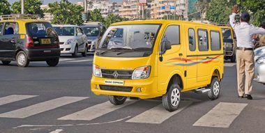 Tata magic Express yellow Colour
