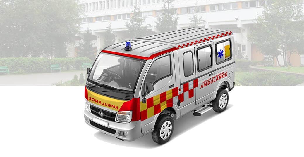 Tata Magic Express Type b Ambulance White