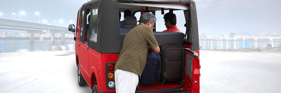 Tata magic Mantra red colour Back