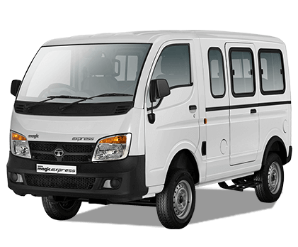 Tata Magic Lh Side View White Colour