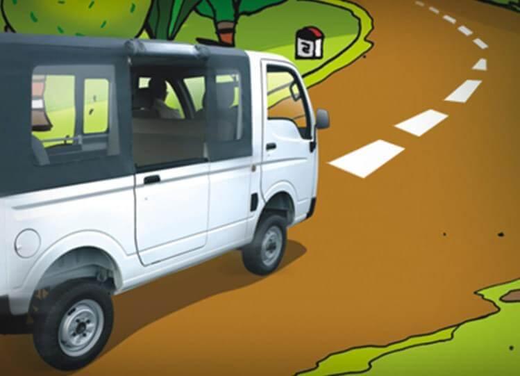 Tata Magic turning Tyres